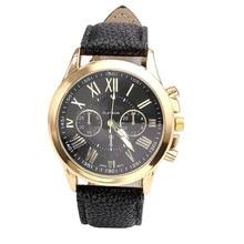Wavors Luxury Brand Women Watch Leather Brand Roman Numerals Big Dial Hour Analog Quartz Wrist Watches