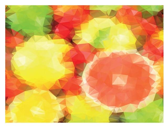ShineHome Orange Modern Abstrak Lukisan Keren Latar Belakang Wallpaper Rolls 3d Wallpaper untuk Dinding 3