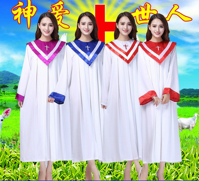 1c612d79946 Christian Church Choir Dress Clothing Jesus Class Service Wear Women  Christian Sing Rob Wedding Hymn Holy