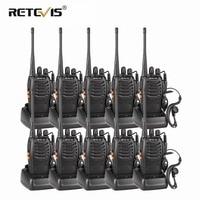 10pcs Cheap Wholesale Walkie Talkie Set Retevis H777/H 777 3W UHF Flashlight CTCSS/DCS Scan Two Way Radio Station Hf Transceiver