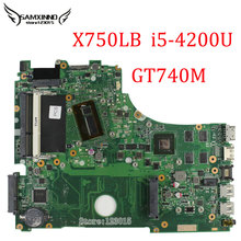 For ASUS X750LB Laptop Motherboard with Intel X750LB rev2.0 i5-4200U GT740M 2GB DDR3 Non-integrated mainboard 100% Tested