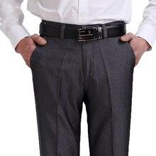 Degli uomini di Casual Pantaloni di Cotone Dritto Allentati Pantaloni di  Affari di Sesso Maschile Classico 3e68d9d1b1d6