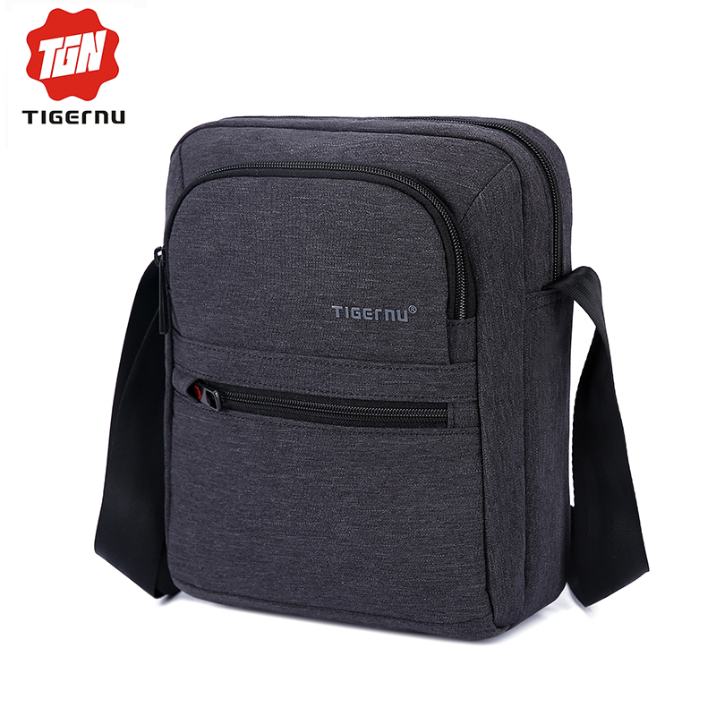 2017 Tigernu New Fashion Men's Messager Bag Business Shoulder Bags Leisure Travel Bag Women Messenger Mini Shoulder Bag for ipad