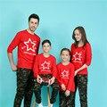 2017 с длинным рукавом футболки мать и дочь одежда футболка женщины плюс размер 5xl отец сына наряды мама и я одежда