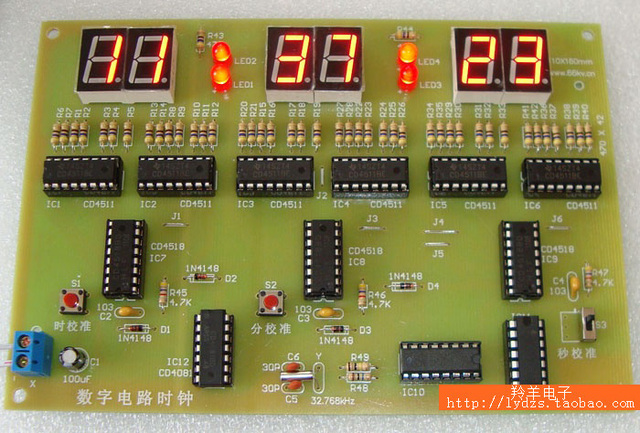 Digital Clock Circuit Diy Parts Pcb Training Experiment Teaching The Making Of Electronic Embly Kit