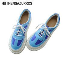 HUIFENGAZURRCS-New Original Literature and Art Retro Women's Shoes, Single Shoes, Soft sole Leather Low Upper Fltas Shoes