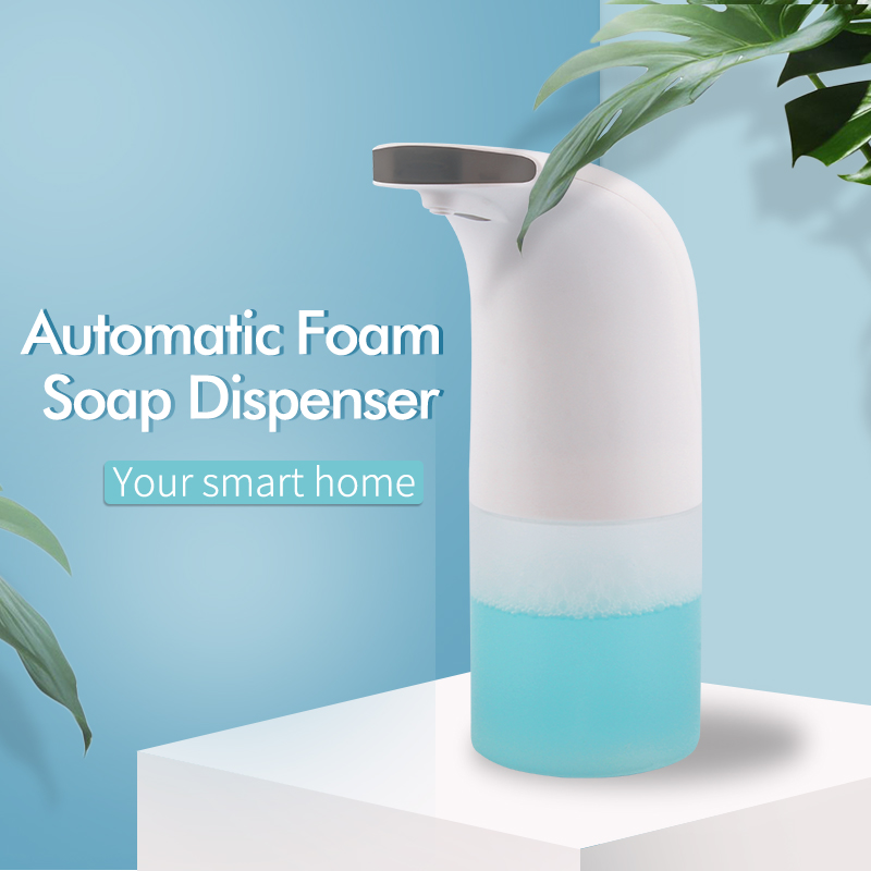 Smart Automatic Foaming Soap Dispenser Infrared Motion Sensor Pump Dispenser Touchless for Bathroom & Kitchen
