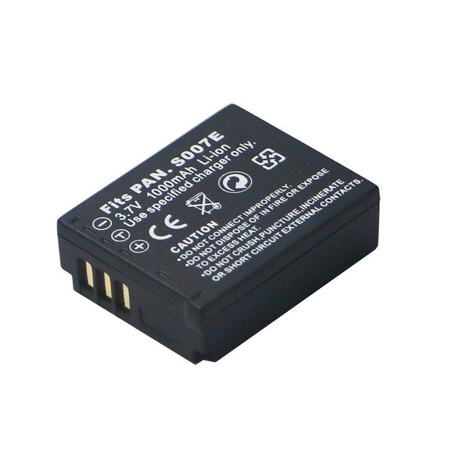 3.7 v 1000 mAh CGA S007 CGA CGR BCD10 S007A S007 S007E סוללה עבור Panasonic DMC TZ1 TZ2 TZ3 TZ4 TZ5 TZ15 TZ50 bateria סוללות