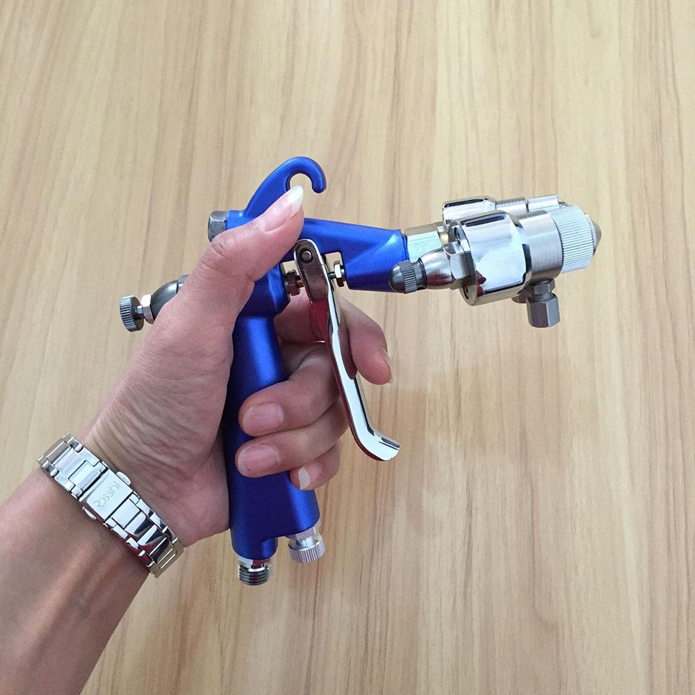 SAT1201 model airbrush paint auto painting gun double nozzle spary gun high pressure spray gun pneumatic wood furniture paint in Spray Guns from Tools