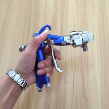 цена на SAT1201 model airbrush paint auto painting gun double nozzle spary gun high pressure spray gun pneumatic wood furniture paint