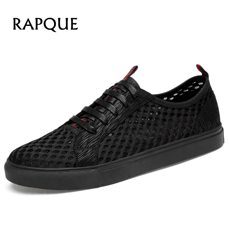 Summer Sandals men sneakers sandalias hombre mesh quick dry Leisure shoes Outdoor Comfortable beach Breathable shoe 708 RAPQUE
