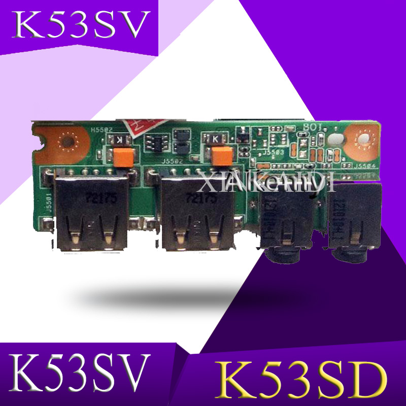 XinKaidi NWE FOR ASUS K53 K53S K53SD K53SV K53SJ USB Audio board 69N0KBB10F01 01 60 N3EIO1000 F01 100% Tested Fast Ship|Motherboards|Computer & Office - title=