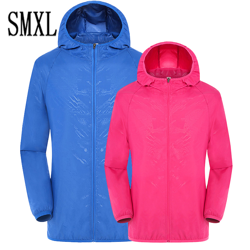 add new Large 4XL plus size Lovers Summer fashion Sun UV Protection men Hooded Jacket Thin Breathable Beach Cardigan women coats