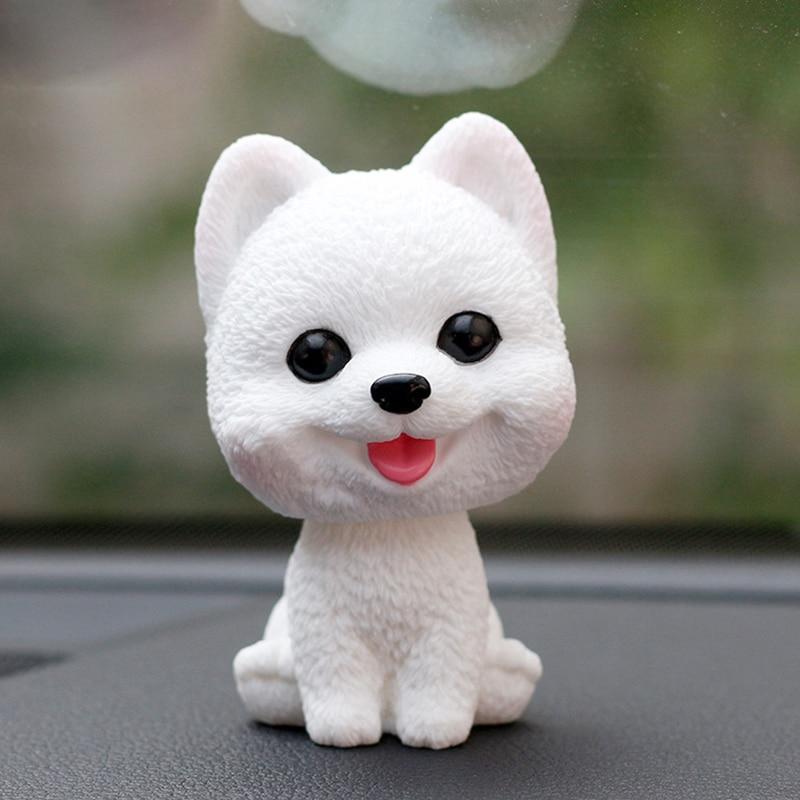 Car Ornaments Bobblehead Dog Nodding Puppy Toys Car Dashboard Decor Toy Lovely Wobble Shaking Head Dolls