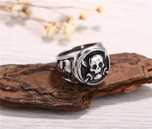2016 new arrival Hot Anime One Piece antique silver plated Pirates Skull Rings high quality can dropshipping