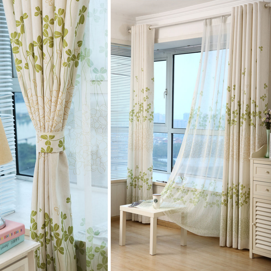 drapes for living room windows finished cotton linen curtain fabric custom living room 18639