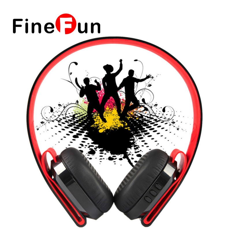 ФОТО FineFun G600 Wireless Bluetooth Earphone Noise Canceling Headphone Headset Deep Bass with Microphone/40mm Speaker double model
