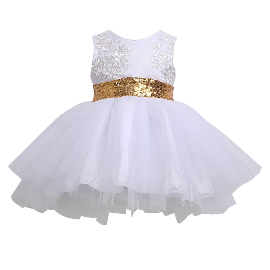 e45d173ea0a Модное рождественское детское кружевное платье с открытой спиной бантом и  цветочным принтом для девочек вечернее платье