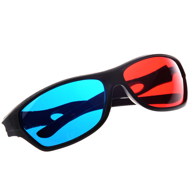 72151873d1 Brand New Red blue Cyan Anaglyph Simple Style 3D Glasses 3D movie game-Extra  Upgrade