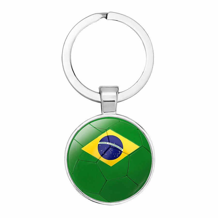 Keychain do Logotipo Da Bandeira de futebol Clube De Futebol Fãs Chaveiro Amizade Chaveiros Lembrança Pingente de Presente Acessórios 4 Vingadores Thanos