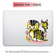 Cute Kitty Cat Colorful Laptop Sticker for Apple Macbook Decal Pro Air Retina 11 12 13 15 inch Vinyl Mac HP Mi Surface Book Skin