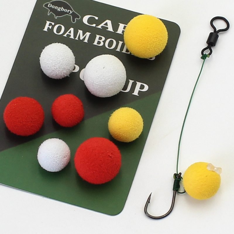 12/15PCS Carp Bait Pop Up Carp Fishing Boilies Bait Zig Bait Foam Boilies For Carp Rig Chod Zig Rig Method Feeder Fishing Tackle