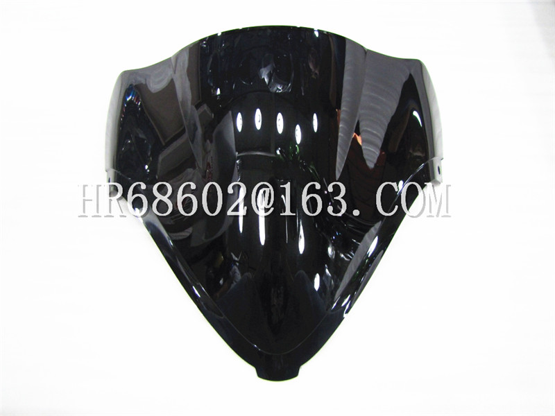 For Suzuki Hayabusa GSX1300 GSXR 1300 R 2008 2009 2010 2011 2012 2013 2014 2015 2016 2017 Black Motorcycle Windshield WindScreen
