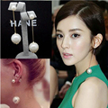 Fashion Elegant Female Pearl Earring Temperament Simple Double Pearl Tassel Chain Earrings Long Earrings Accessories Wholesale