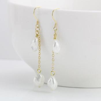 0a5e82063f2e DAIMI 2019 nueva llegada 9-10mm Perla Barroca pendientes borlas de joyas de  estilo mujer pendientes para las mujeres de regalo