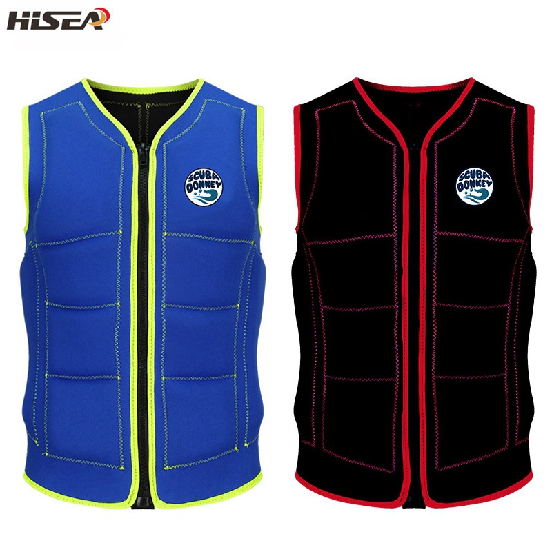 Hisea Men s Neoprene Elastic professional adult life jackets thick water floating surfing snorkeling fishing racing