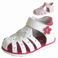 Lovely New 1pair Girl Orthopedic Genuine Leather Sandals Children Shoes Kids Baby Summer Shoes