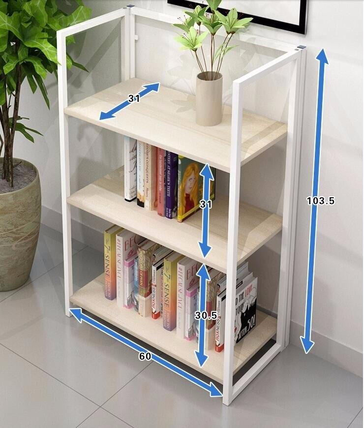 Installation free multi-functional folding bookshelf decorative frame installation terrapol
