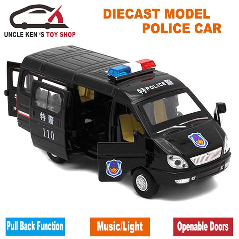 1/32 Scale Diecast Ryska GAZ Gazel Polis Ambulansmodellbil för - Bilar och fordon - Foto 4