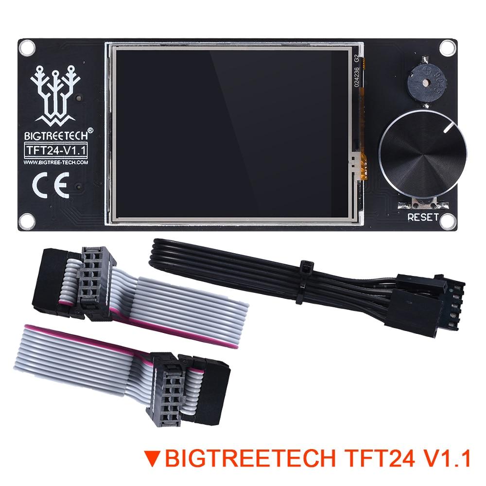 BIGTREETECH TFT24 V1.1 Display Similar 12864 LCD Touch Screen DIY Modes For Ender 3 3D Printer Board Panel SKR V1.3 PRO UART