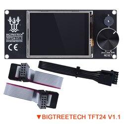 Bigtreetech tft24 v1.1 display semelhante 12864 modos de tela toque lcd diy para ender 3 placa impressora 3d painel skr v1.3 pro uart