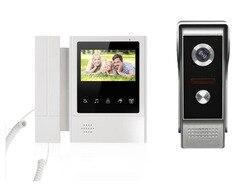 XINSILU лучший сенсорный ЖК-дисплей с цветным монитором 4,3 видео-телефон двери ночная версия домофона домашняя Безопасность Видео система 1V1