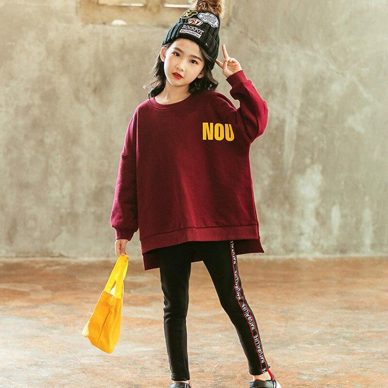2018 New Fashion Sweatshirt Big Girls Hoodies Baby Girls Tops Kawaii Printing Girls Hoody 100% Cotton Comfortable Clothes CA5101 girls 100