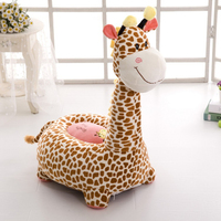 Cartoon Baby Seats Sofa Kids Comfortable PP Cotton Animal Giraffe Elephant Dragon Portable Feeding Chair Children's Plush Toy