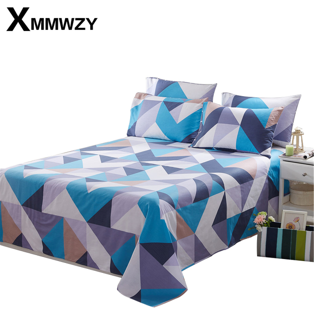 Great Sale Low Price Bed Sheet Soft 100% Cotton Flat Sheet Printed Single/Double  For