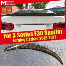 Fits For BMW F30 AEM4 Style Tail Wing Spoiler 3 series 318i 320i 325i 330i 335i Forging Carbon Fiber Rear Trunk Spoiler 2012-17 16 320i 318i