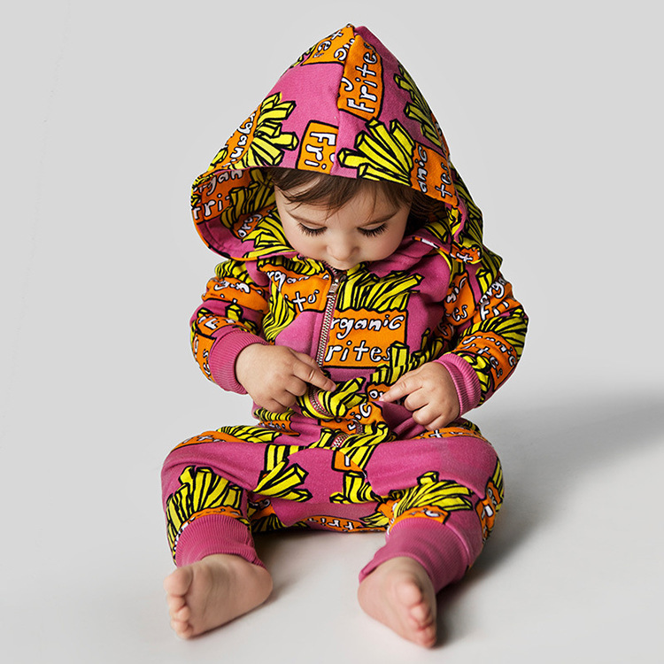 New Arrived Hot sale baby infant rompers Letters jumpsuit set clothing long sleeve Spring Cute style Baby Hooded clothes
