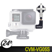 Original COMICA CVM VG05 S Ball shaped Stereo Video Microphone Interview Microphone for GoPro Cameras Hero 3, 3+, 4, 5