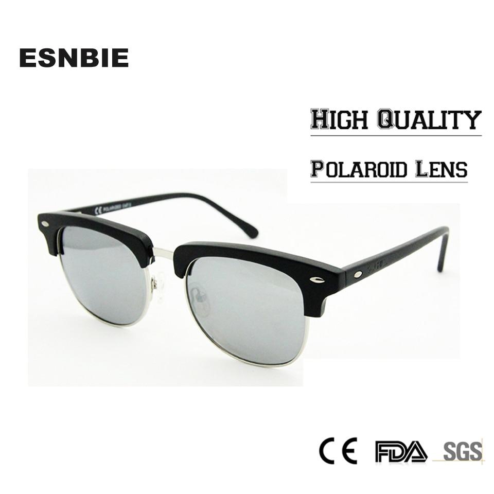 ᗕEsnbie calidad superior polarizadas Gafas de Sol medio Marcos ...