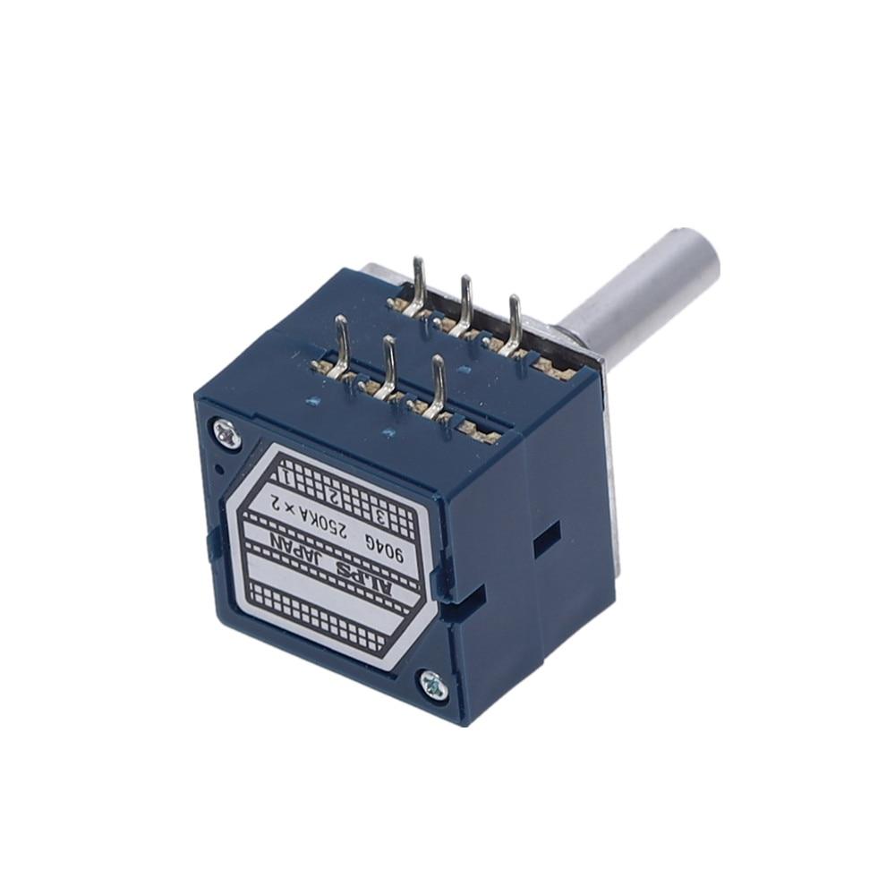 10K 20K 50K 100K 250K 500K ALPS RK27 VOLUME Potentiometer Dual 10~500KAX2 Slotted Japan Rotary Switch 6Ppin