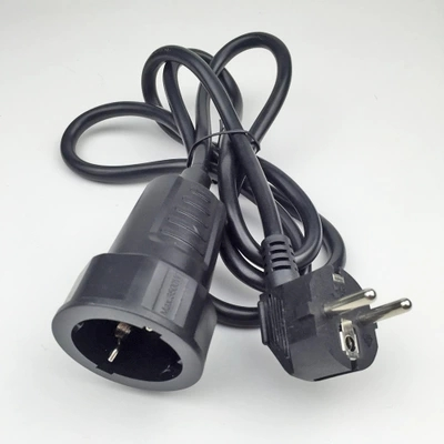 250V 16A European/German Standard Socket And Plug Power Line 3*1.5 MM/1 Meters Cable Extension Cord