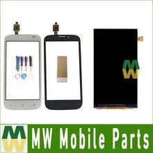 Купить онлайн 1 шт./лот высокое качество 4.5 «для FLY IQ4404 отдельными Сенсорный экран и ЖК-Экран Дисплей черно-белый цвет с инструментами + лента