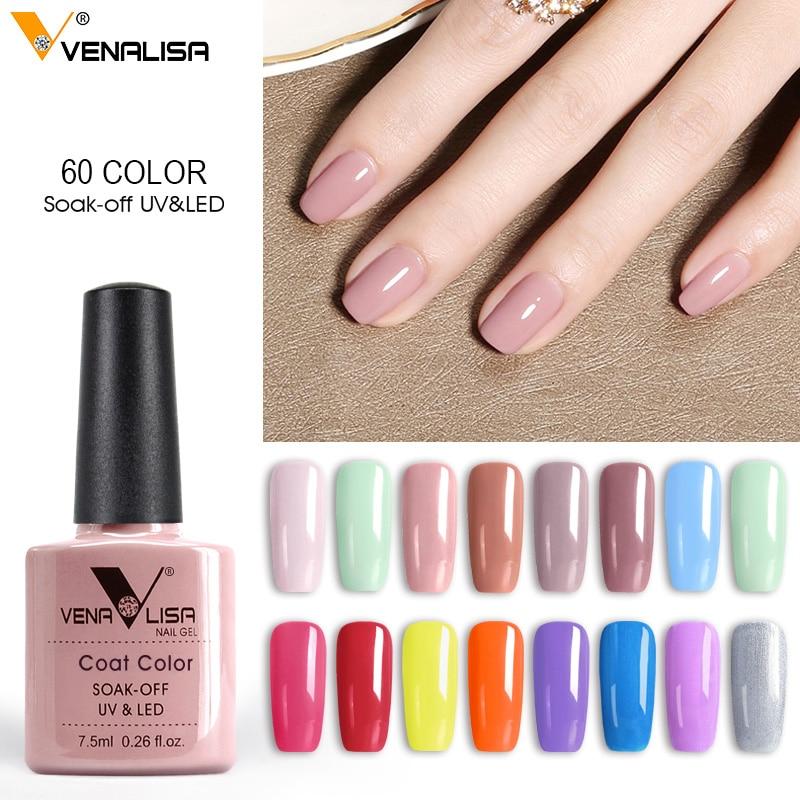 2020 new 60 fashion color Venalisa gel polish vernish color gel polish for nail art design whole set nail gel learner kit