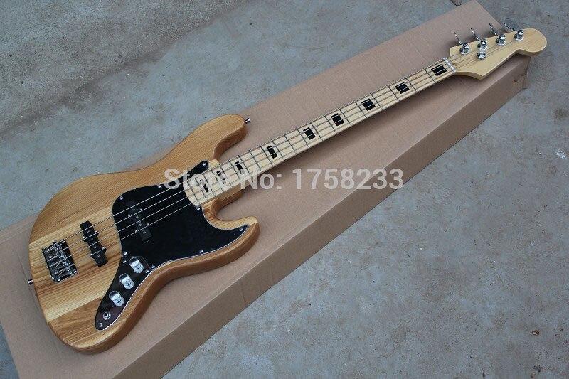. Livraison gratuite chaude nouveau gros électrique basse guitare, Jazz Bass guitare, naturel, micros actifs 4 cordes guitare