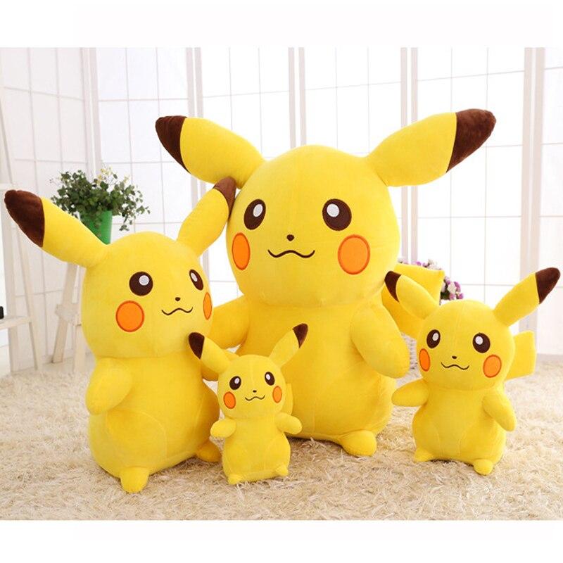 Kawaii Stuffed Anime Pikachu Plush Toy Soft Pillow Big Cute Kids Doll Cartoon Peluche For Girls Children Birthday Gift Drop Ship