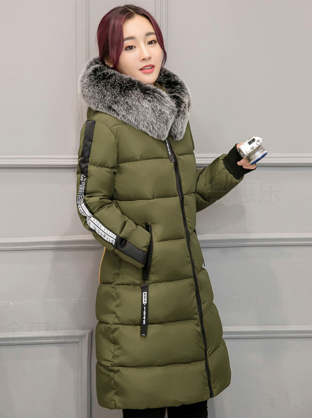 Women Parkas Winter jacket Coat 2017 New Fashion Thick Warm Hooded Zipper long Jacket Slim Big yards Coat And Overcoat women winter coat leisure big yards hooded fur collar jacket thick warm cotton parkas new style female students overcoat ok238